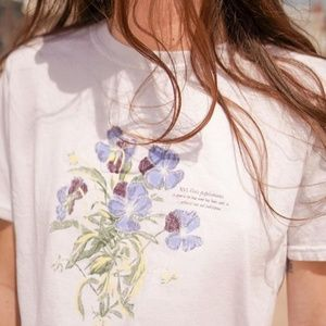 NWT Project Social T Blue Violet Crew Neck Tee